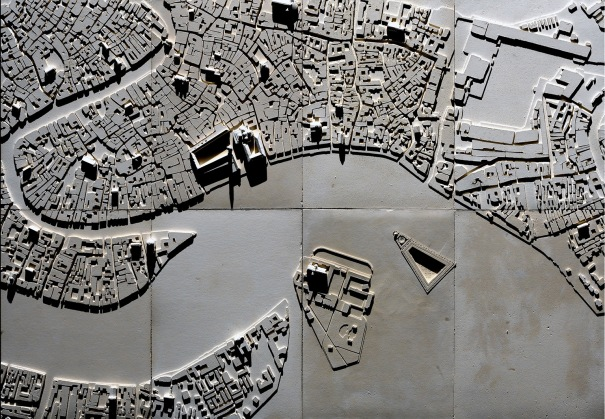 Defensor Urbis, project for the underground station, sinked island, workshop 2007