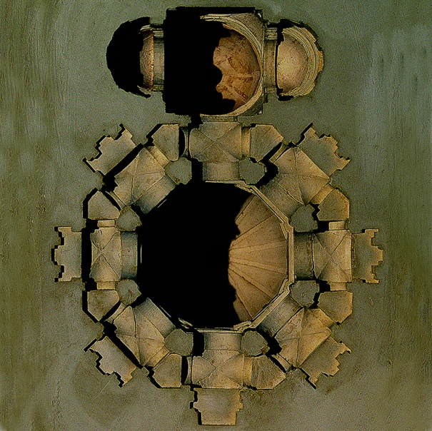 Deposition of Gaze, internal view of the Salute Basilica's vaults and domes, course 2006