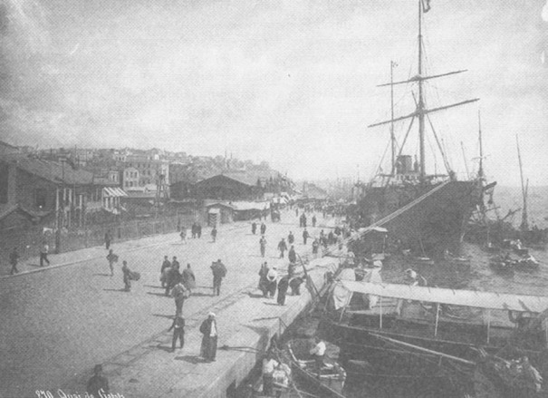 19th century, sea-gate of Istanbul