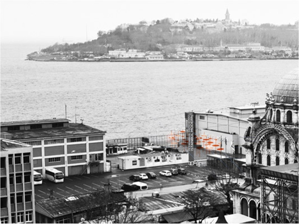 YAP Istanbul Modern- Photo montage (Image: SO?). Accross the open air museum city- Historic Peninsula of Istanbul