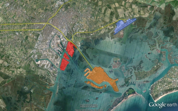 The regeneration area: selected islands should link to each other by successful organization of  various functions